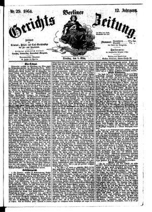 Berliner Gerichts-Zeitung vom 08.03.1864