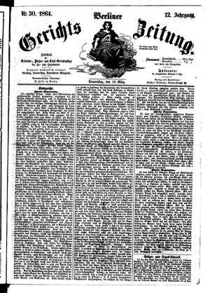 Berliner Gerichts-Zeitung vom 10.03.1864