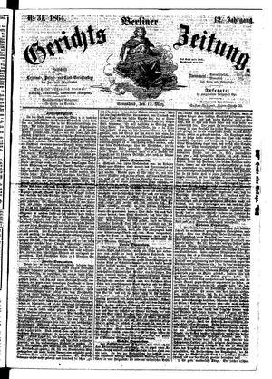 Berliner Gerichts-Zeitung vom 12.03.1864