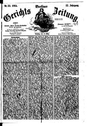 Berliner Gerichts-Zeitung vom 15.03.1864