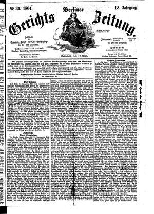 Berliner Gerichts-Zeitung vom 19.03.1864