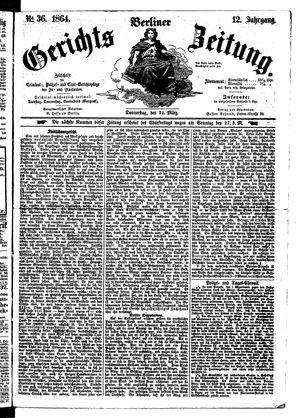 Berliner Gerichts-Zeitung vom 24.03.1864
