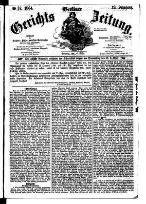 Berliner Gerichts-Zeitung vom 27.03.1864
