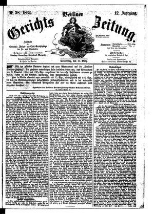Berliner Gerichts-Zeitung vom 31.03.1864