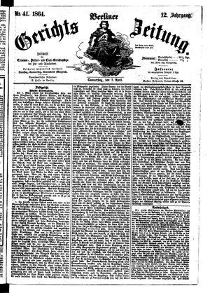 Berliner Gerichts-Zeitung vom 07.04.1864