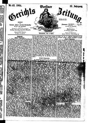Berliner Gerichts-Zeitung vom 09.04.1864