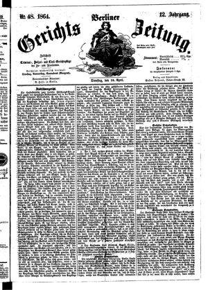 Berliner Gerichts-Zeitung vom 26.04.1864