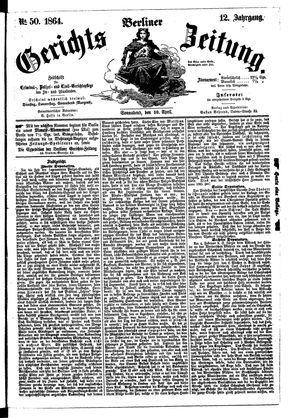 Berliner Gerichts-Zeitung on Apr 30, 1864