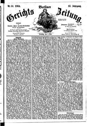 Berliner Gerichts-Zeitung vom 03.05.1864