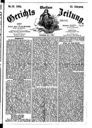 Berliner Gerichts-Zeitung on May 5, 1864
