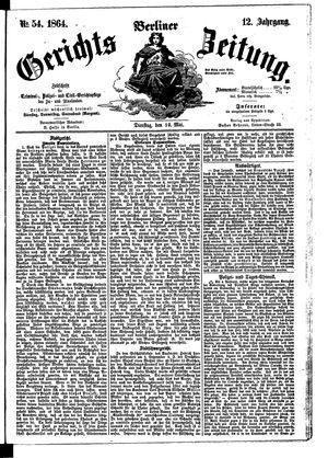 Berliner Gerichts-Zeitung on May 10, 1864