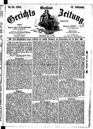 Berliner Gerichts-Zeitung vom 14.05.1864