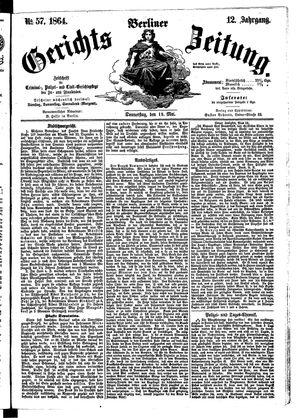 Berliner Gerichts-Zeitung on May 19, 1864