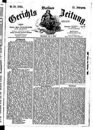 Berliner Gerichts-Zeitung vom 21.05.1864