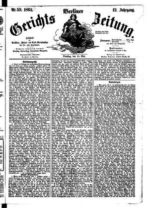 Berliner Gerichts-Zeitung vom 24.05.1864