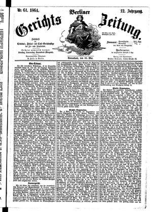 Berliner Gerichts-Zeitung vom 28.05.1864