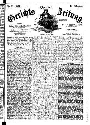 Berliner Gerichts-Zeitung vom 31.05.1864