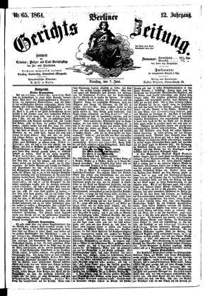 Berliner Gerichts-Zeitung vom 07.06.1864