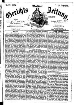 Berliner Gerichts-Zeitung vom 23.06.1864
