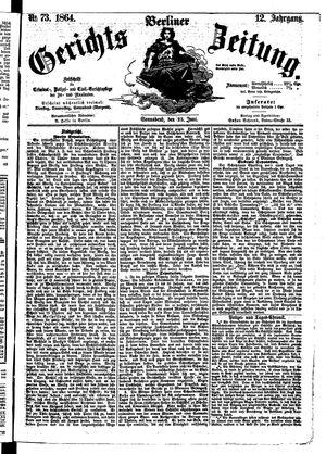 Berliner Gerichts-Zeitung vom 25.06.1864