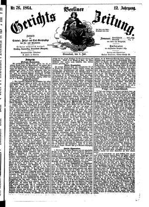 Berliner Gerichts-Zeitung vom 02.07.1864