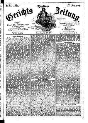 Berliner Gerichts-Zeitung vom 14.07.1864