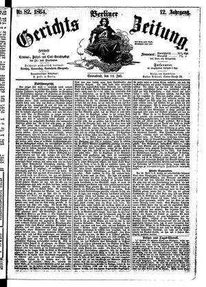 Berliner Gerichts-Zeitung vom 16.07.1864