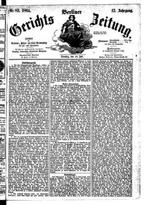 Berliner Gerichts-Zeitung vom 19.07.1864