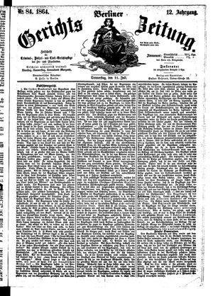 Berliner Gerichts-Zeitung vom 21.07.1864