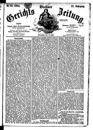 Berliner Gerichts-Zeitung vom 28.07.1864