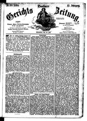 Berliner Gerichts-Zeitung vom 30.07.1864