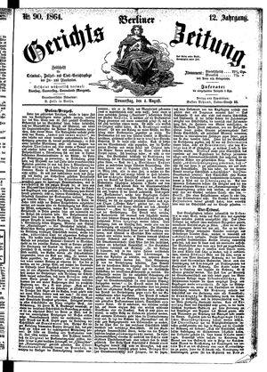 Berliner Gerichts-Zeitung vom 04.08.1864