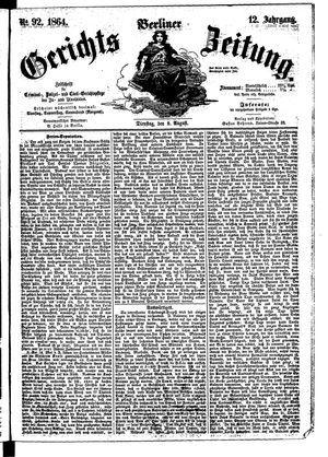 Berliner Gerichts-Zeitung vom 09.08.1864