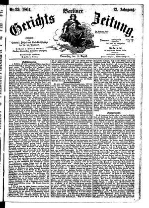 Berliner Gerichts-Zeitung vom 11.08.1864