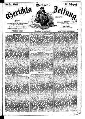 Berliner Gerichts-Zeitung vom 13.08.1864