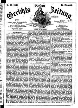 Berliner Gerichts-Zeitung on Aug 16, 1864