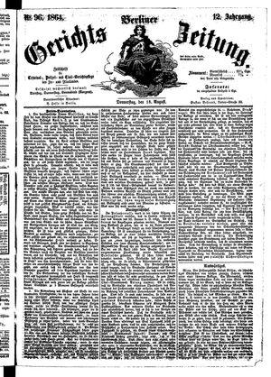 Berliner Gerichts-Zeitung vom 18.08.1864