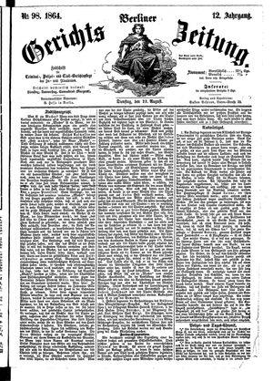 Berliner Gerichts-Zeitung vom 23.08.1864
