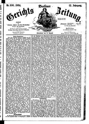 Berliner Gerichts-Zeitung vom 27.08.1864