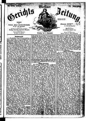 Berliner Gerichts-Zeitung on Sep 6, 1864