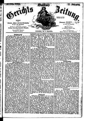 Berliner Gerichts-Zeitung vom 08.09.1864