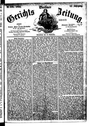 Berliner Gerichts-Zeitung vom 10.09.1864