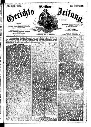 Berliner Gerichts-Zeitung vom 15.09.1864