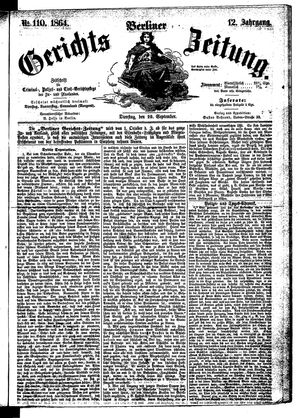 Berliner Gerichts-Zeitung vom 20.09.1864