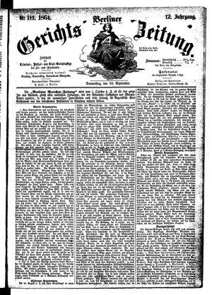 Berliner Gerichts-Zeitung vom 22.09.1864