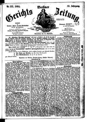 Berliner Gerichts-Zeitung vom 24.09.1864