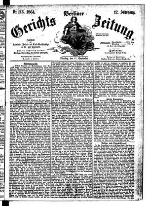 Berliner Gerichts-Zeitung vom 27.09.1864