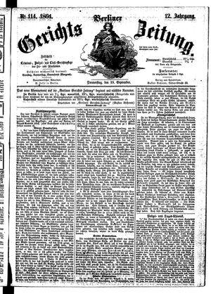 Berliner Gerichts-Zeitung vom 29.09.1864