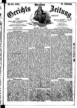 Berliner Gerichts-Zeitung vom 01.10.1864