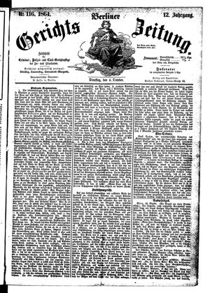 Berliner Gerichts-Zeitung vom 04.10.1864